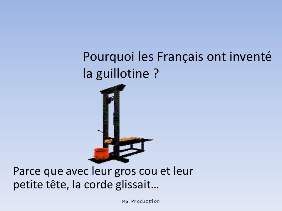 Pourquoi les Français ont inventé la guillotine
