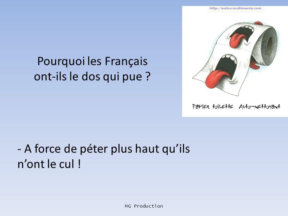 Pourquoi les Français ont-ils le dos qui pue