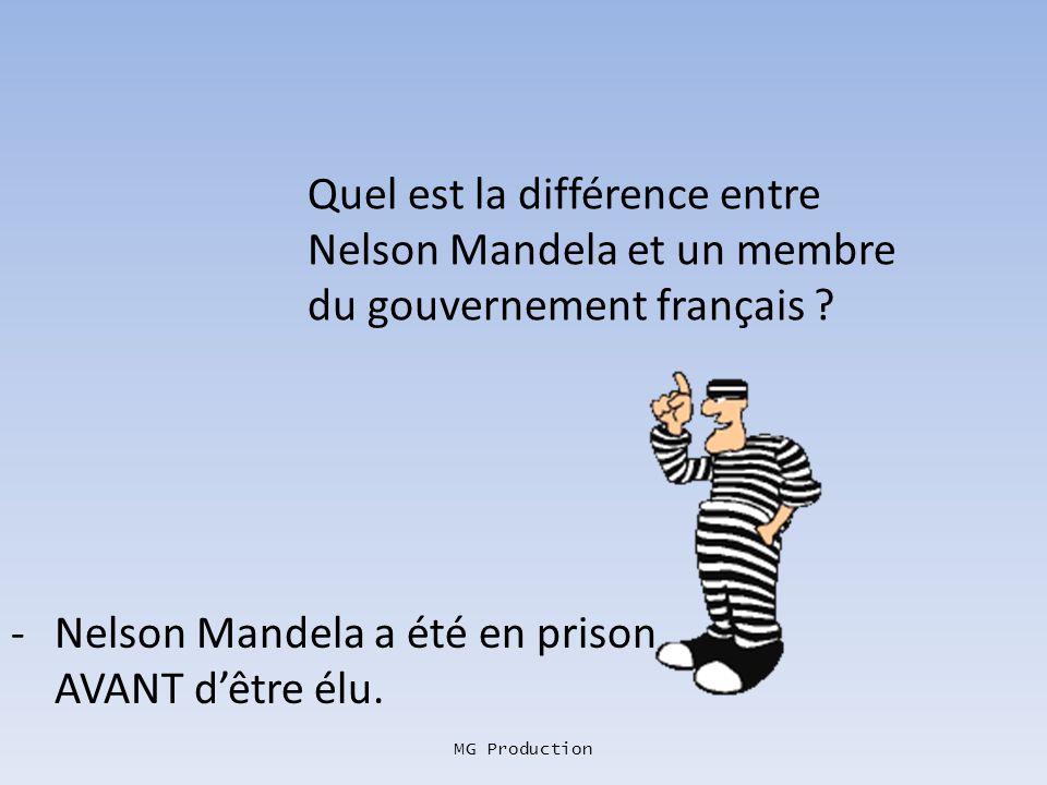 - Nelson Mandela a été en prison AVANT d'être élu.