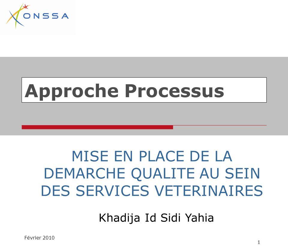 Approche Processus Khadija Id Sidi Yahia Février 2010 1