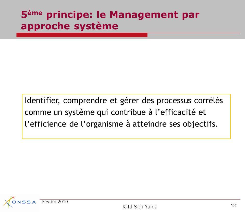 5ème principe: le Management par approche système