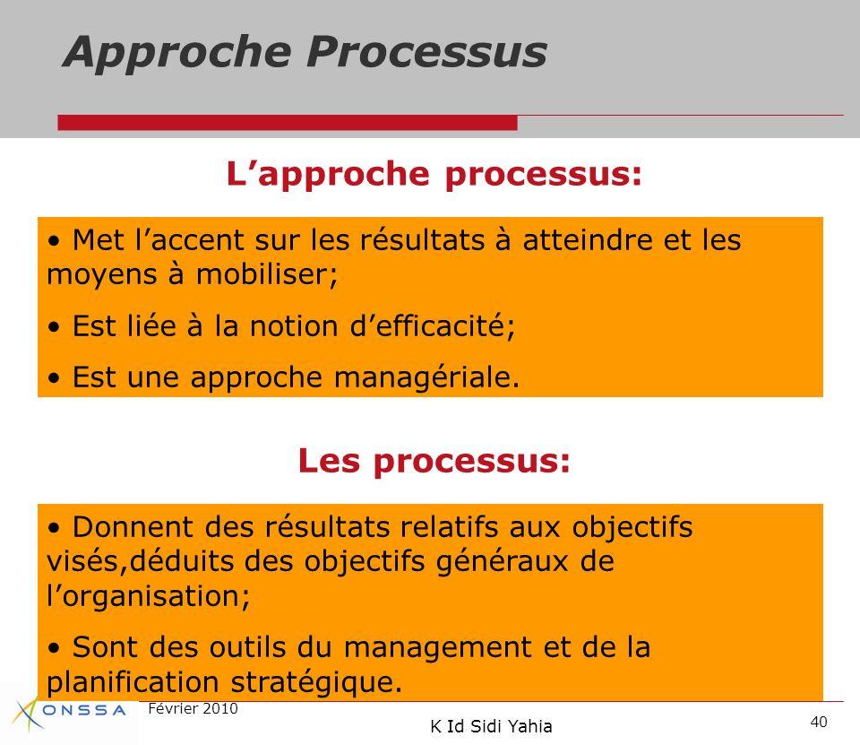 L'approche processus: