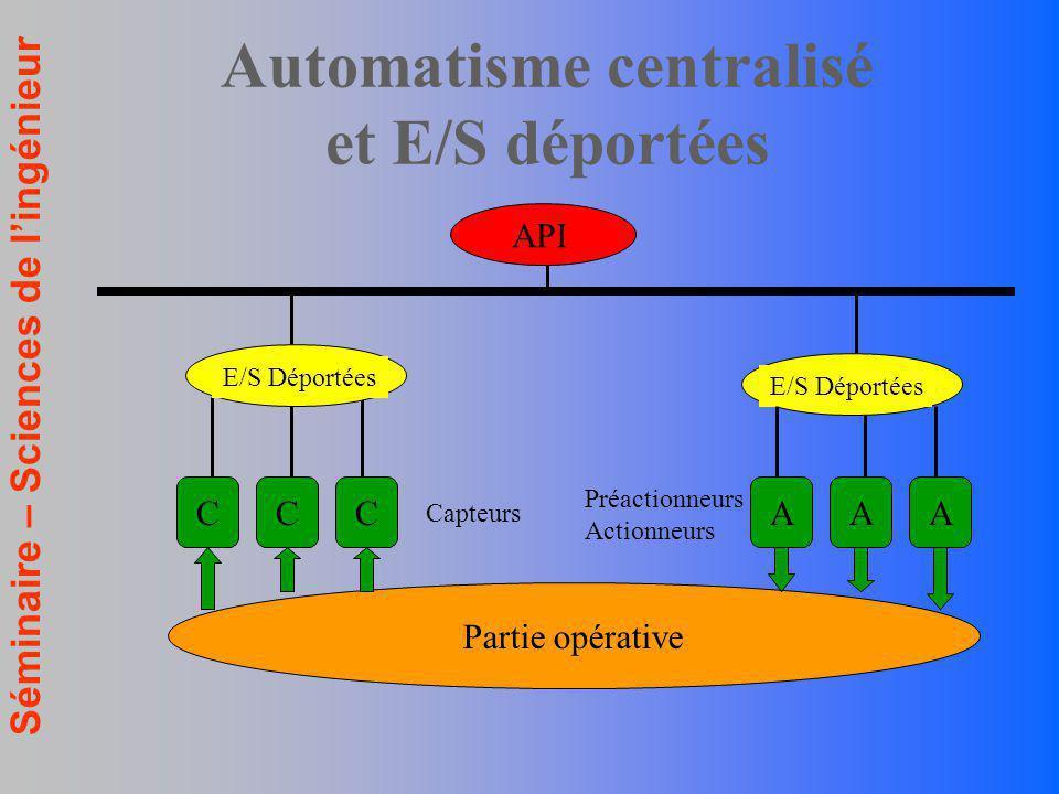 Automatisme centralisé et E/S déportées