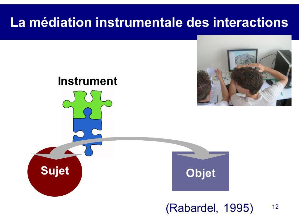 La médiation instrumentale des interactions