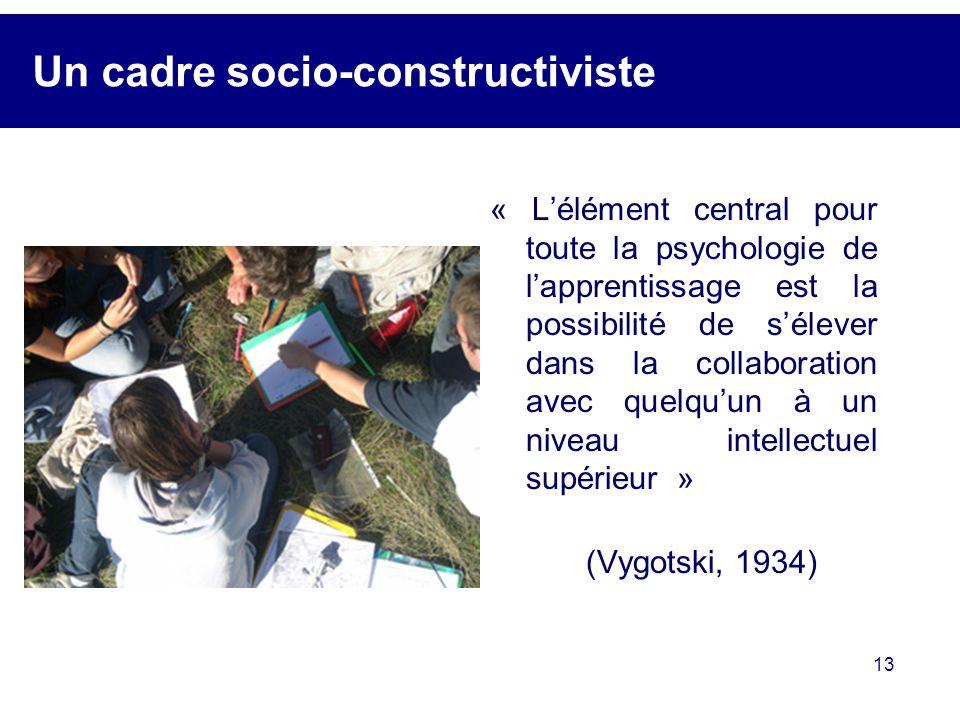 Un cadre socio-constructiviste