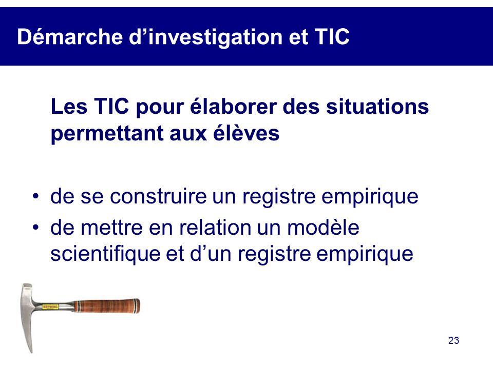 Démarche d'investigation et TIC