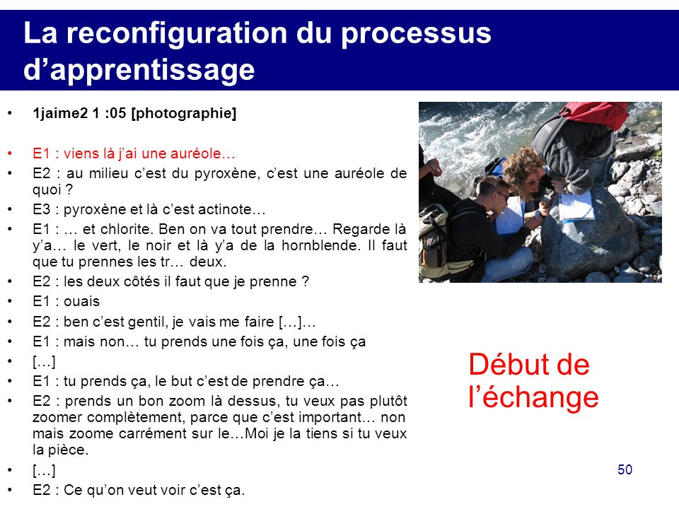 La reconfiguration du processus d'apprentissage