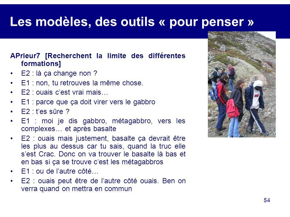 Les modèles, des outils « pour penser »