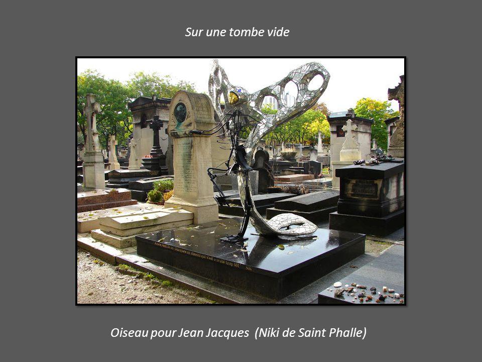 Sur une tombe vide Oiseau pour Jean Jacques (Niki de Saint Phalle)