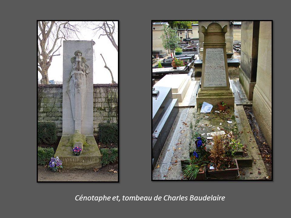Cénotaphe et, tombeau de Charles Baudelaire