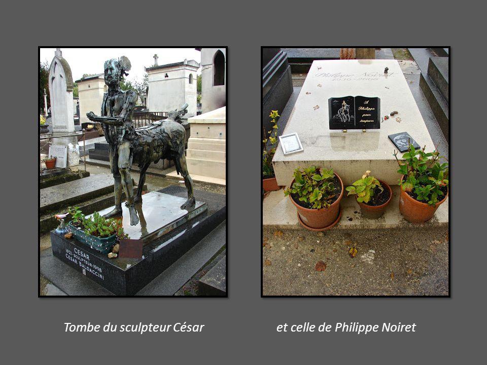 Tombe du sculpteur César et celle de Philippe Noiret