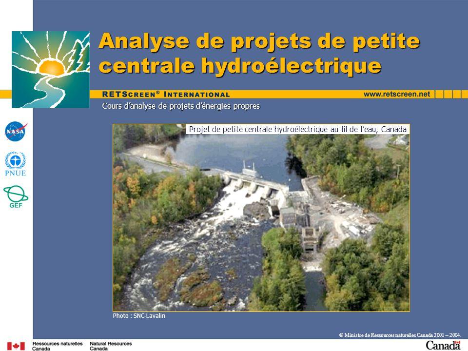 Projet de petite centrale hydroélectrique au fil de l'eau, Canada