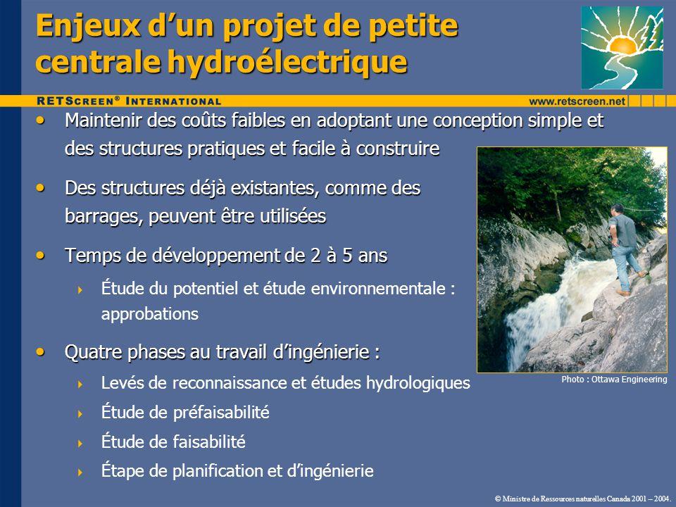 Enjeux d'un projet de petite centrale hydroélectrique