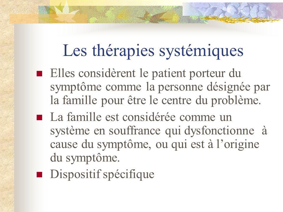 Les thérapies systémiques