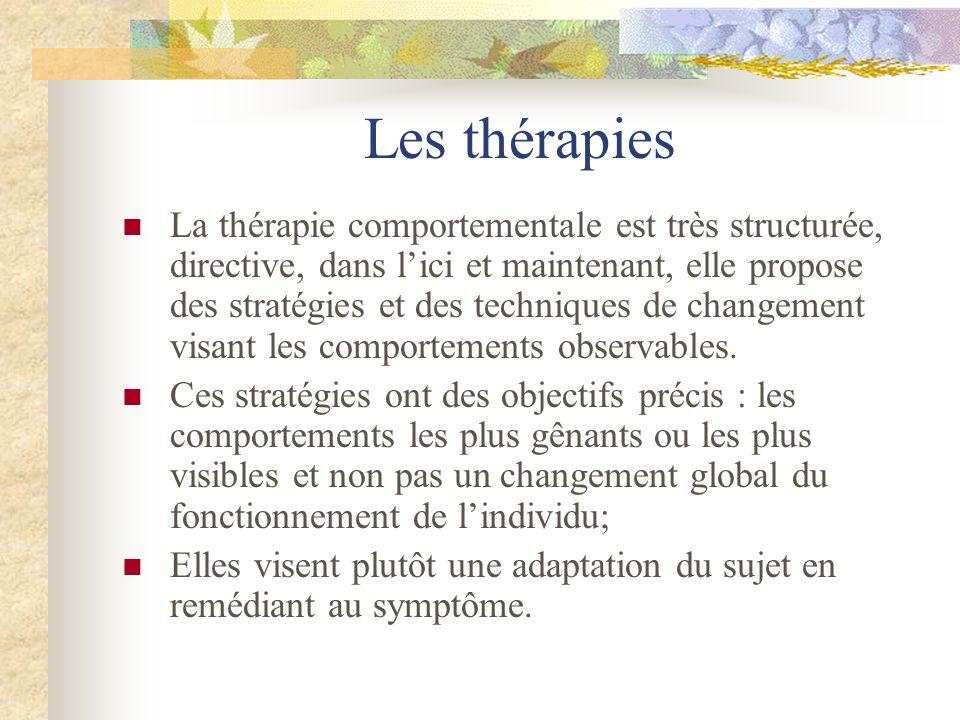 Les thérapies