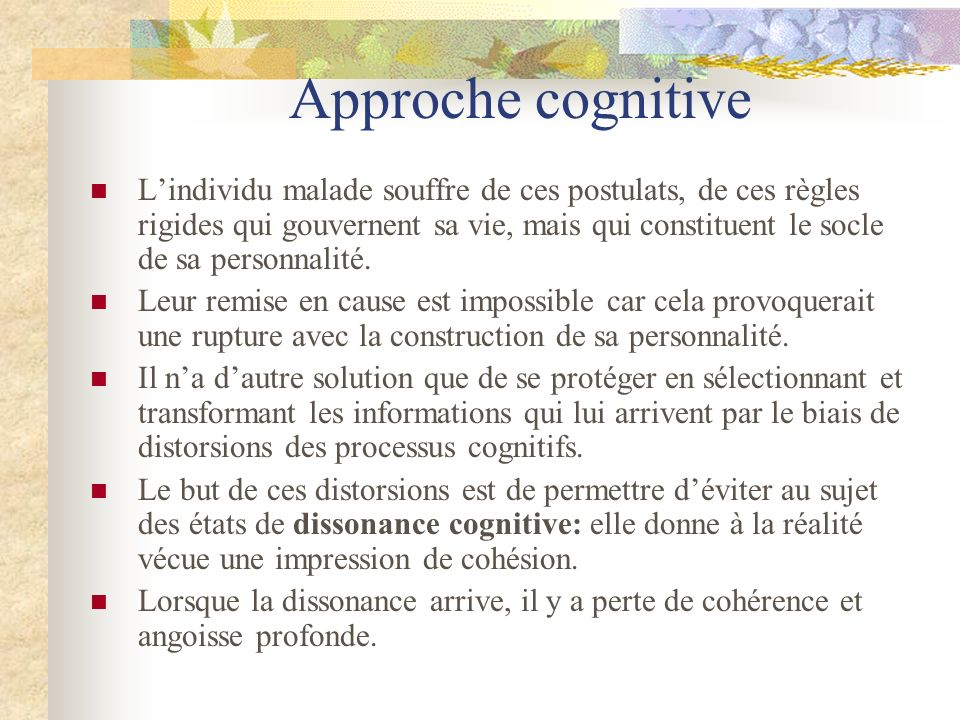 Approche cognitive