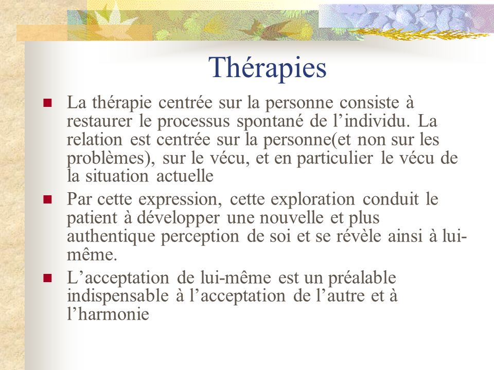 Thérapies