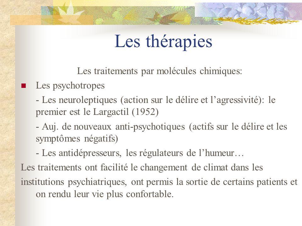 Les traitements par molécules chimiques: