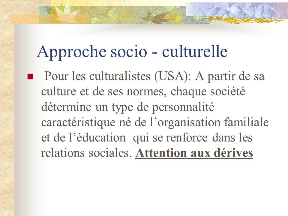 Approche socio - culturelle