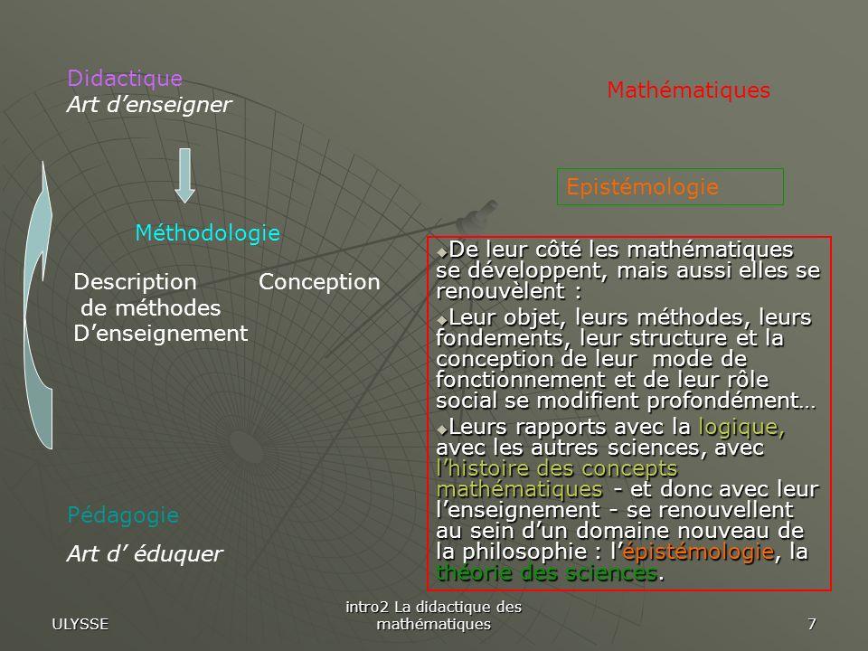 intro2 La didactique des mathématiques
