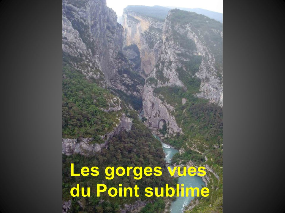 Les gorges vues du Point sublime