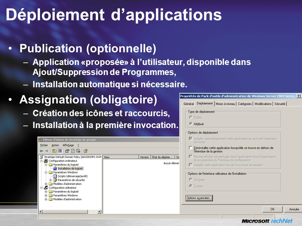 Déploiement d'applications