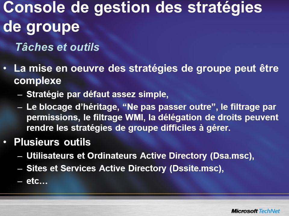 Console de gestion des stratégies de groupe