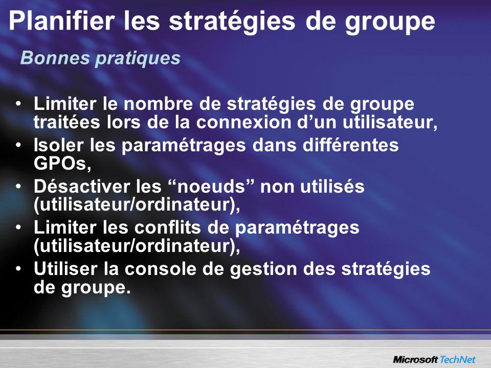 Planifier les stratégies de groupe