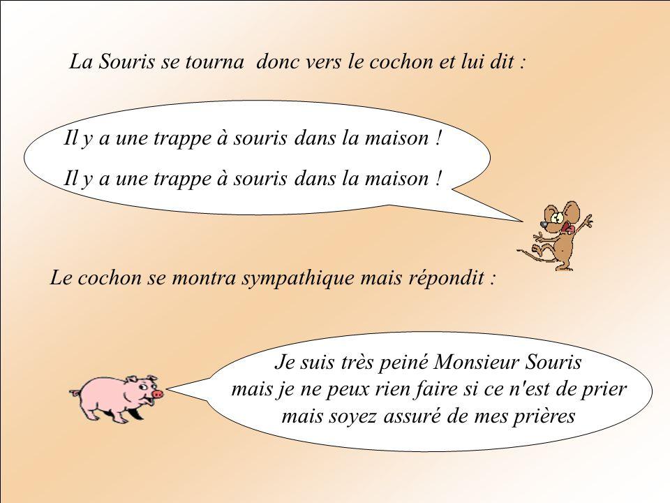 La Souris se tourna donc vers le cochon et lui dit :