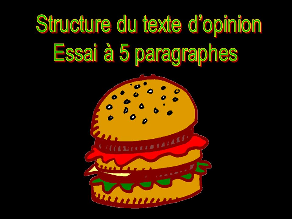 Structure du texte d'opinion