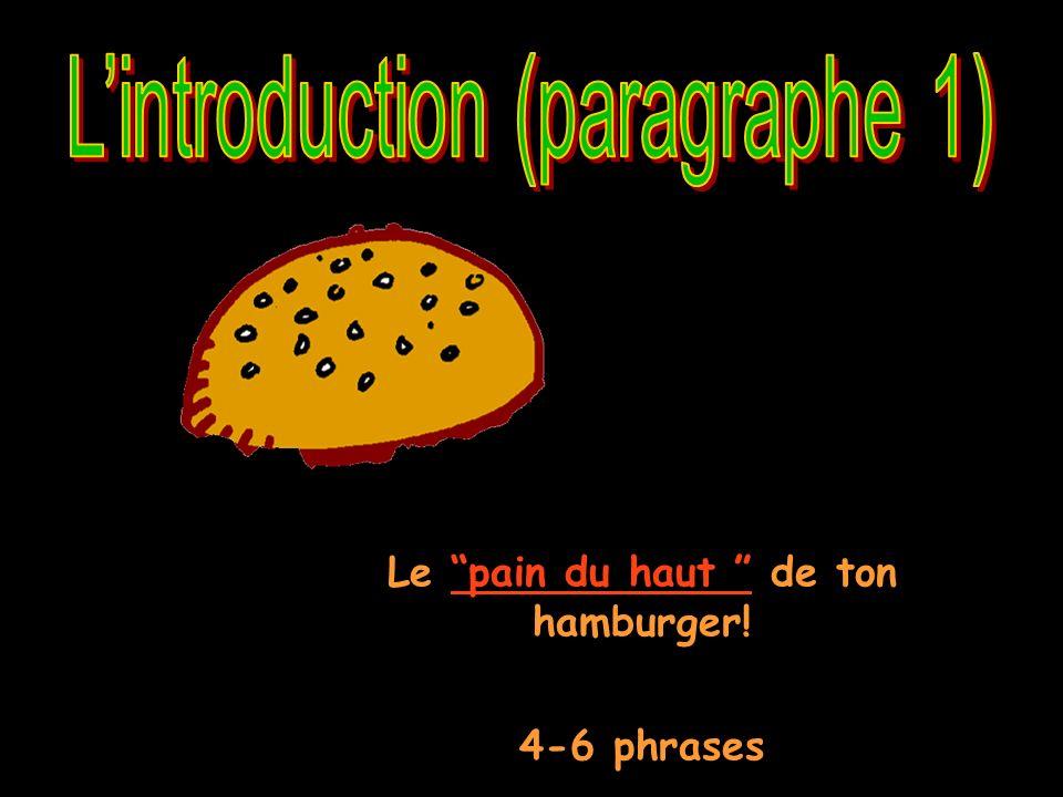 Le pain du haut de ton hamburger!