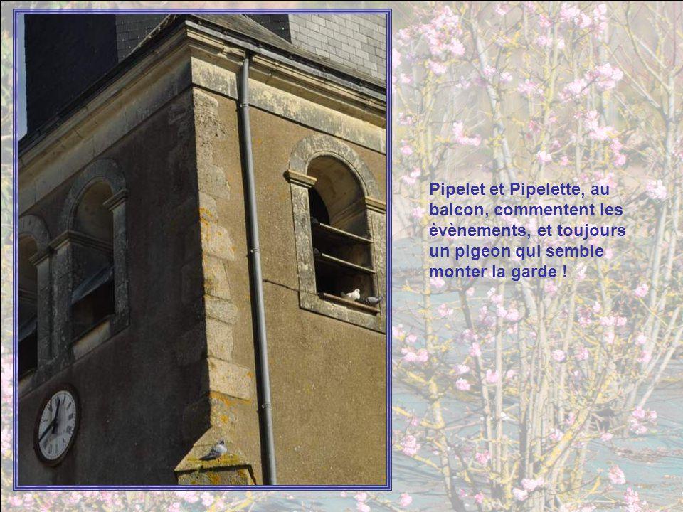Pipelet et Pipelette, au balcon, commentent les évènements, et toujours un pigeon qui semble monter la garde !
