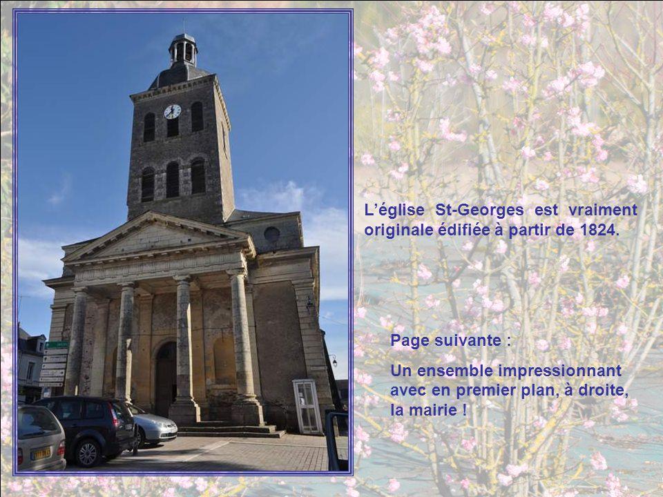 L'église St-Georges est vraiment originale édifiée à partir de 1824.