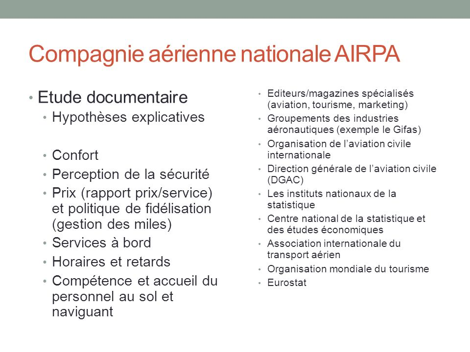 Compagnie aérienne nationale AIRPA