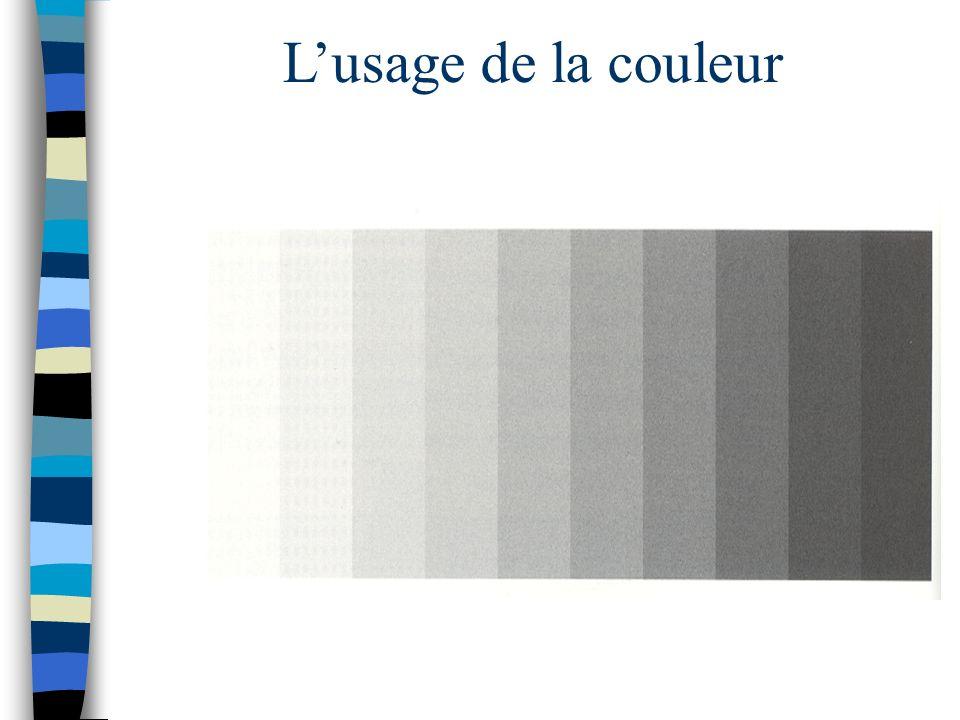 L'usage de la couleur