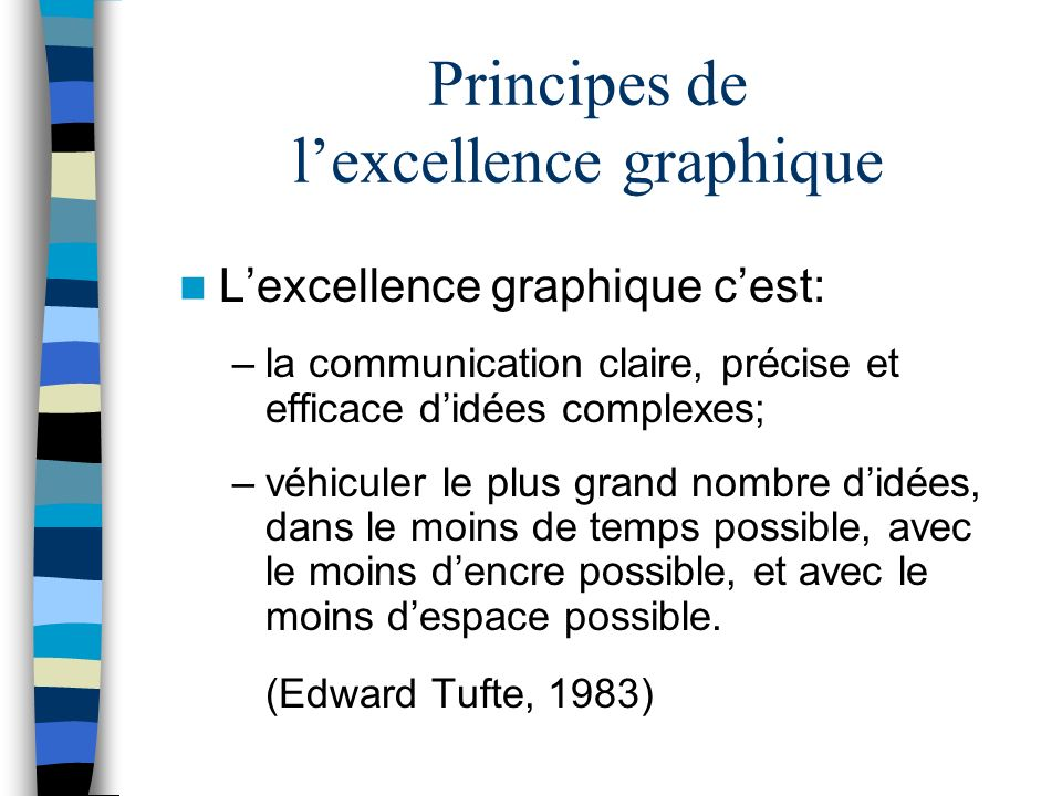 Principes de l'excellence graphique