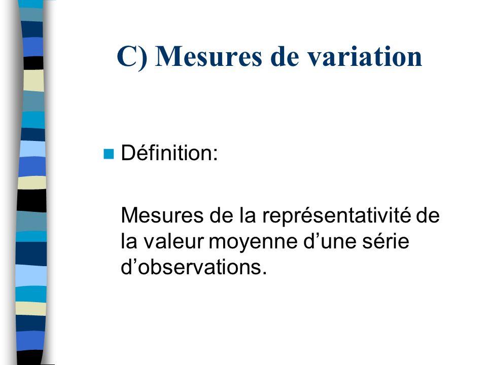 C) Mesures de variation