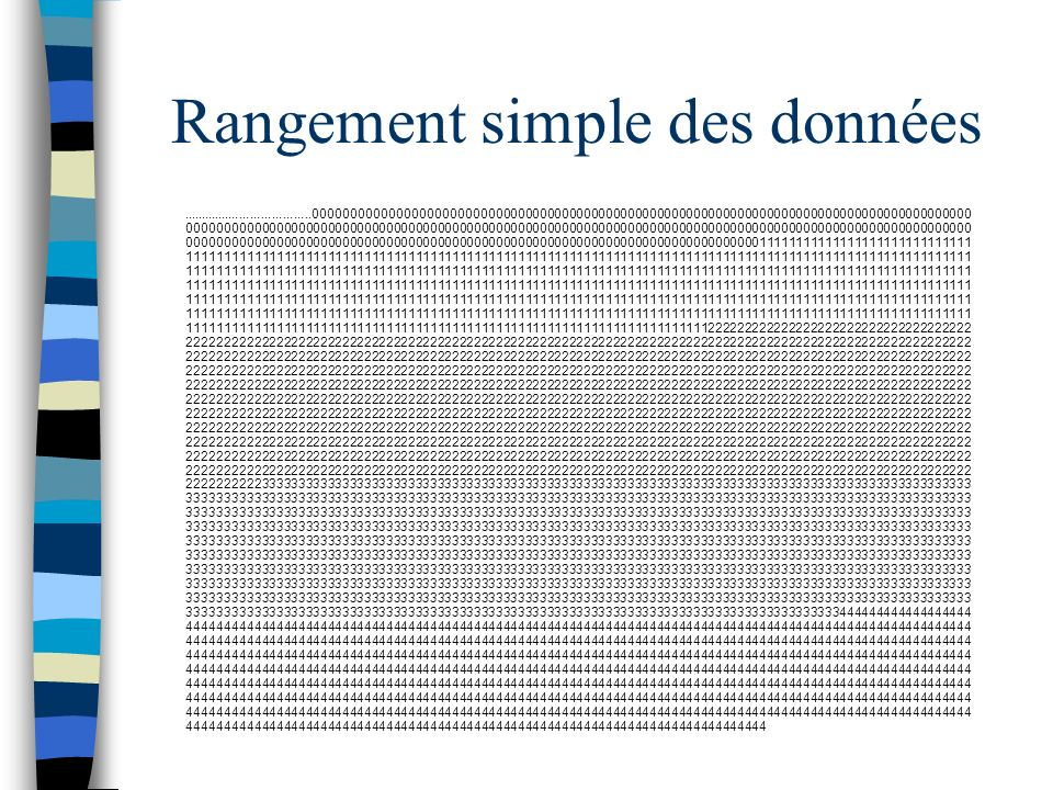 Rangement simple des données