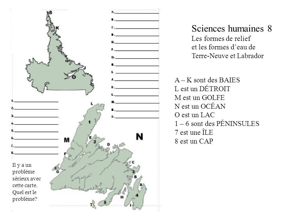 Sciences humaines 8 Les formes de relief et les formes d'eau de