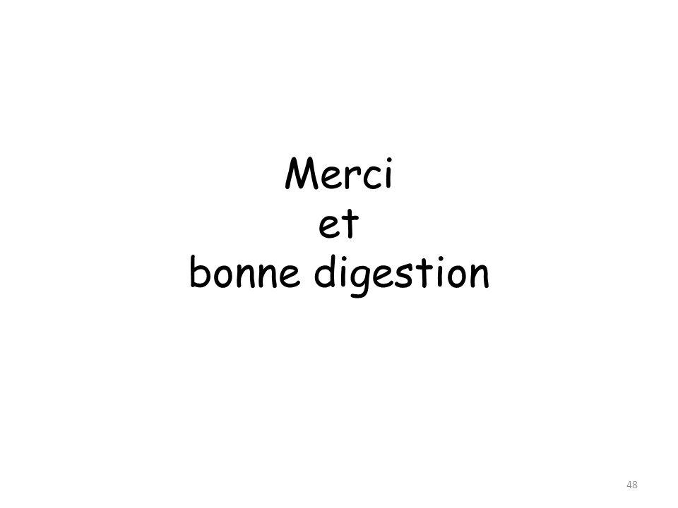 Merci et bonne digestion