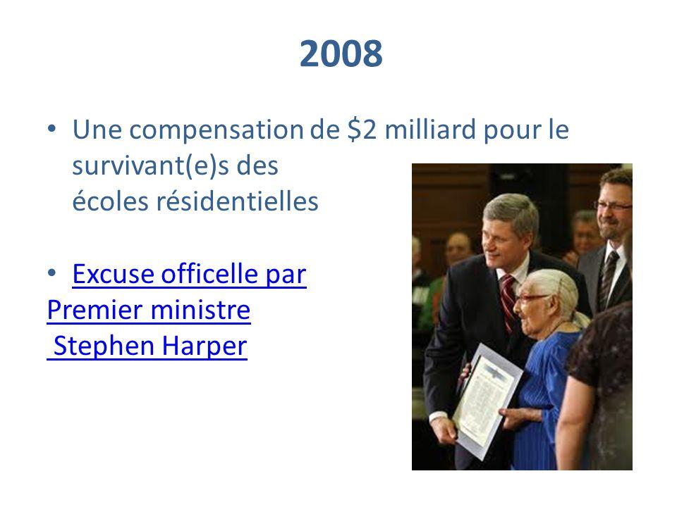 2008 Une compensation de $2 milliard pour le survivant(e)s des