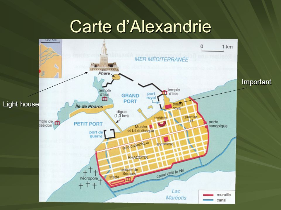 Carte d'Alexandrie Important Light house