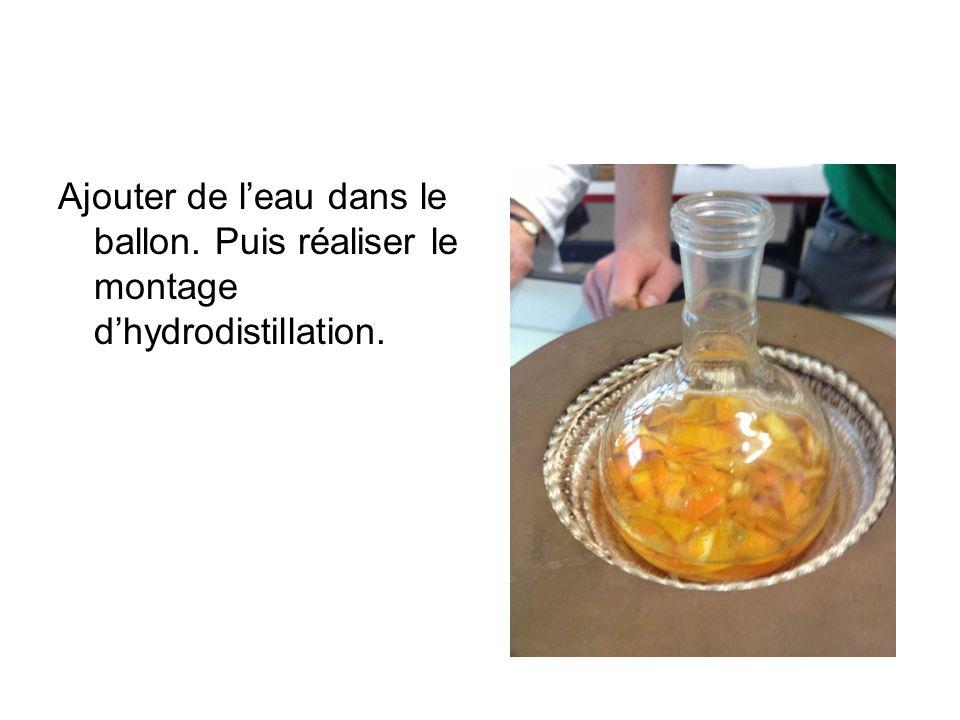 Ajouter de l'eau dans le ballon