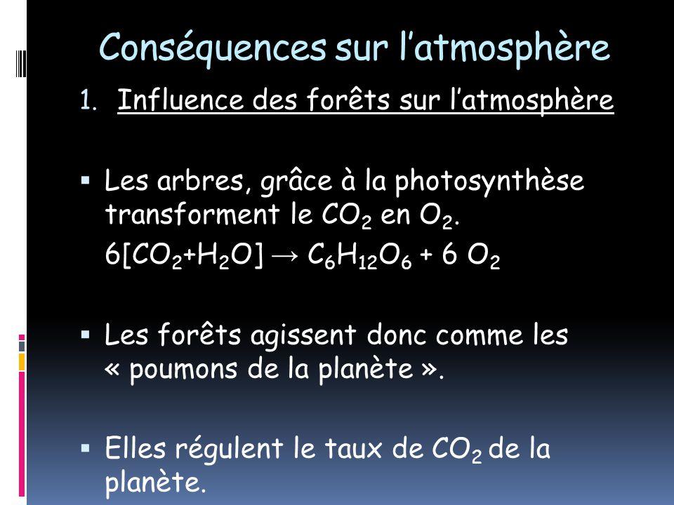 Conséquences sur l'atmosphère