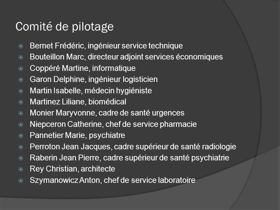 Comité de pilotage Bernet Frédéric, ingénieur service technique