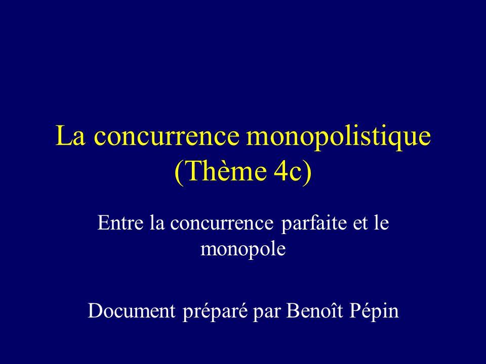 La concurrence monopolistique (Thème 4c)