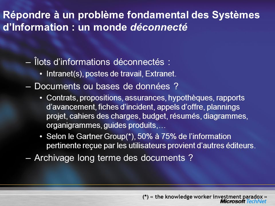 Répondre à un problème fondamental des Systèmes d'Information : un monde déconnecté