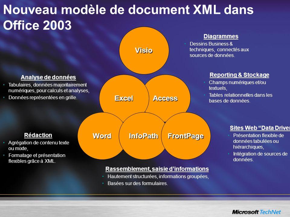 Nouveau modèle de document XML dans Office 2003