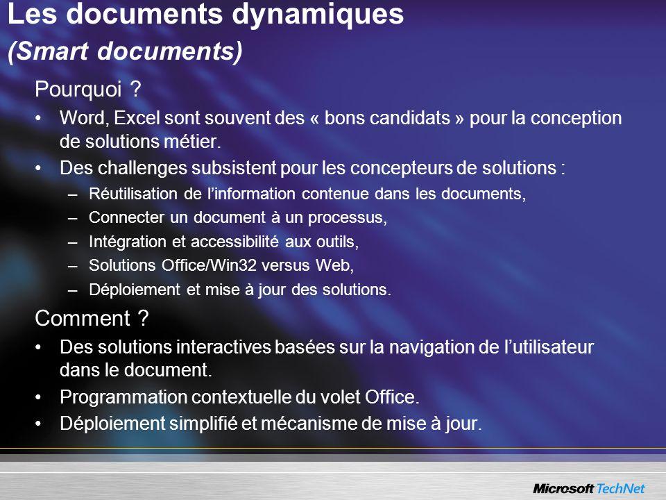 Les documents dynamiques (Smart documents)