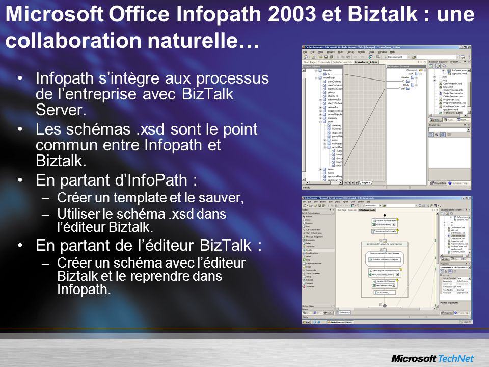 Microsoft Office Infopath 2003 et Biztalk : une collaboration naturelle…
